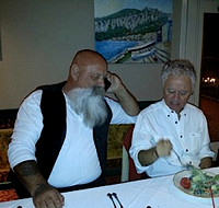 Mike Lowther, Ron Blair at the Gold Mirror restaurant